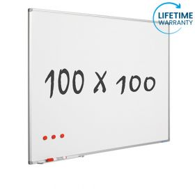 whiteboard emaille 100 x 100 cm