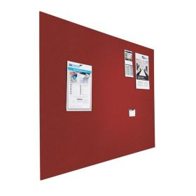 Prikbord bulletin - Zwevend - 120x200 cm - Rood 1