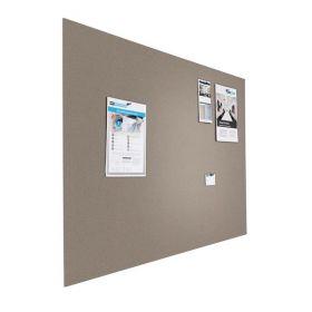 Prikbord bulletin - Zwevend - 90x120 cm - Grijs 1