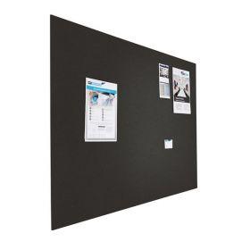 Prikbord bulletin - Zwevend - 90x120 cm - Zwart 1
