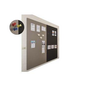 Prikbord bulletin - Wandpaneel - 200x120 cm  - Rood