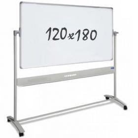 Tableau blanc mobile - double face - magnétique - 120 x 180 cm