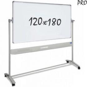 verrijdbaar whiteboard emaille 120 x 180 cm