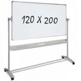 verrijdbaar whiteboard 120 x 200 cm