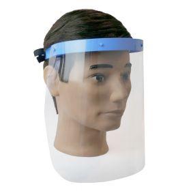 Écran facial avec 2 écrans en PVC - Support en plastique médical