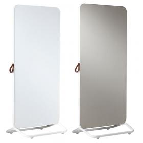 Chameleon Mobile dubbelzijdig glassboard/prikbord 89 x 192 cm - Wit/Grijs