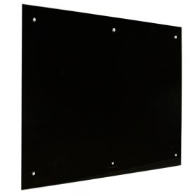 glassboard 6 pins zwart