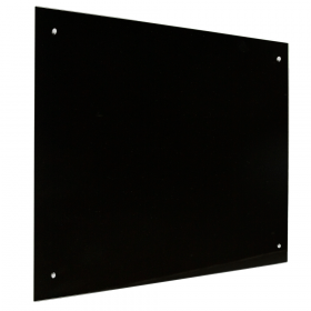 Glassboard zwart - 100x100