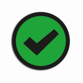 Aimants 'Check' Basic Vert (5 pièces)