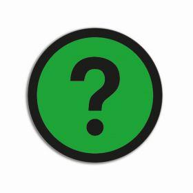 Aimants Point d'interrogation Basic Vert (5 pièces)