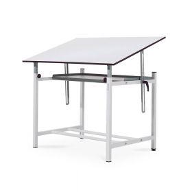 Table à dessin professionnelle avec étagère - Réglable - Planche 100x150 cm