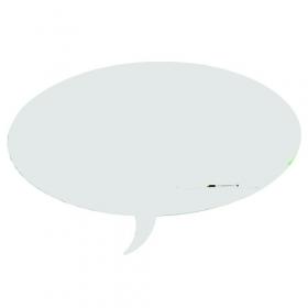 Skin whiteboard - Tekstballon - Wit - 100x150 cm