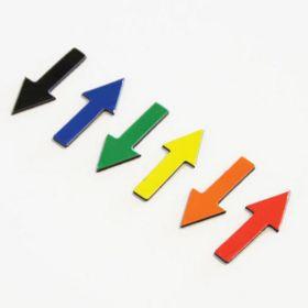 Symboles magnétiques - Flèche - 1 cm - Orange - 35 pièces