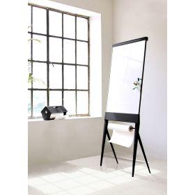 Tableau design STRUIS - Chevalet de conférence / tableau blanc émaillé magnétique - Mobile / pliable