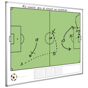 Tableau blanc - terrain de football - 90 x 120 cm