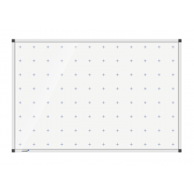whiteboard met kruisjes