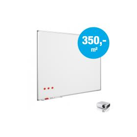 Tableau blanc sur mesure - Émaillé Mica (max. 150x240 cm)